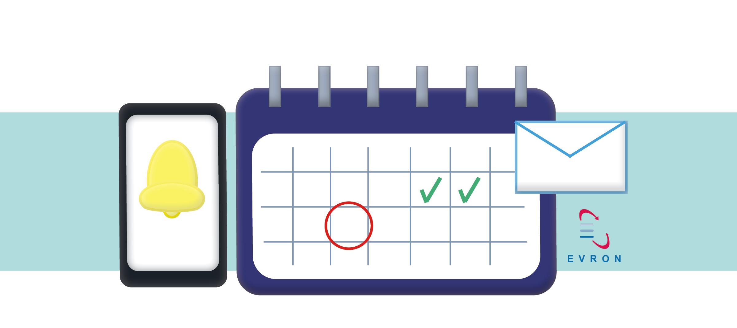 Calendar and phone alert illustration